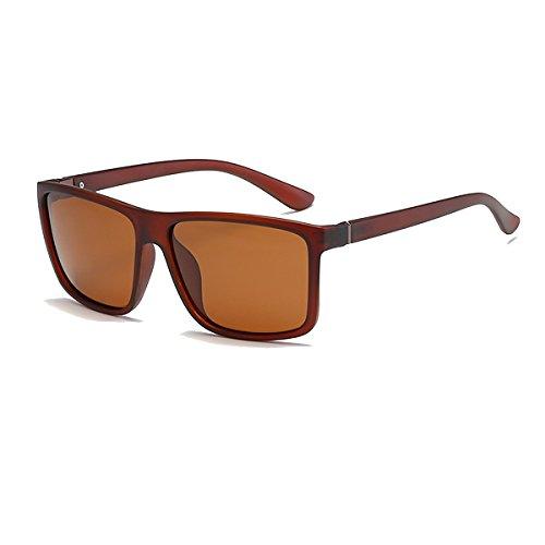 BVAGSS Herren Sonnenbrille Mit Polarisierte Gläser Outdoor Sportarten Schutz Brille UV-Schutz Fahrbrille(WS021) (Sand Black Frame With Brown Lens) (Braune Wayfarer Sonnenbrille)