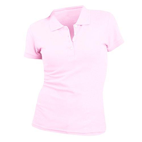 SOLS People Damen Polo-Shirt, Kurzarm (Medium) (Hellrosa)