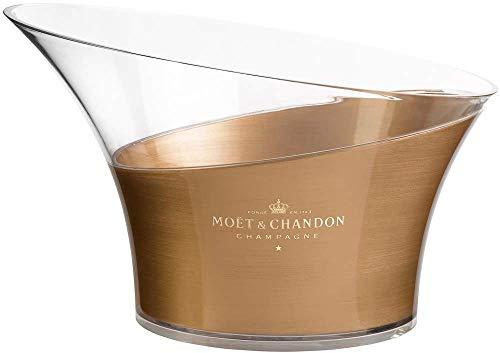 Moet & Chandon Champagner Flaschenkühler Gold Transparent Eiswürfel Behälter für bis zu 6X 0,75 L Champagner Flaschen