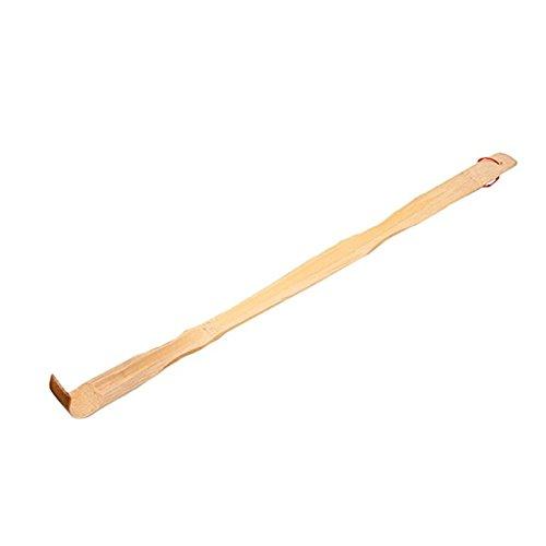Vikenner Bambus Rücken juckende Scratcher Massager Durable Holz Handheld Scratchback Rack für Körper/Hals / Rücken/Schulter Massage - 47cm - Bambus-hals