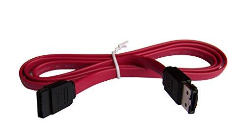 POWER STAR 3871129 - Cable SATA a eSATA (1 metro), rojo