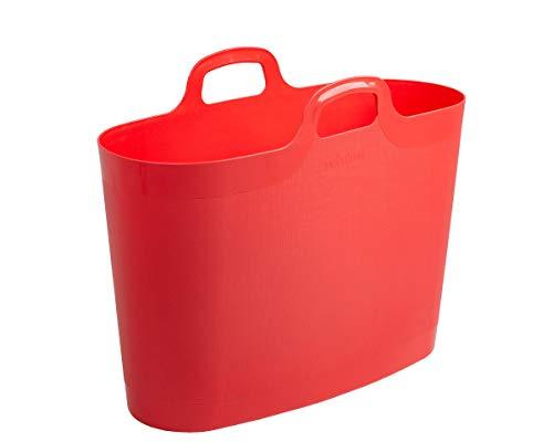 WHAM 29953 X Große Flexi Bag Tragetasche, Einkaufstasche aus Kunststoff - 40 Liter - coral
