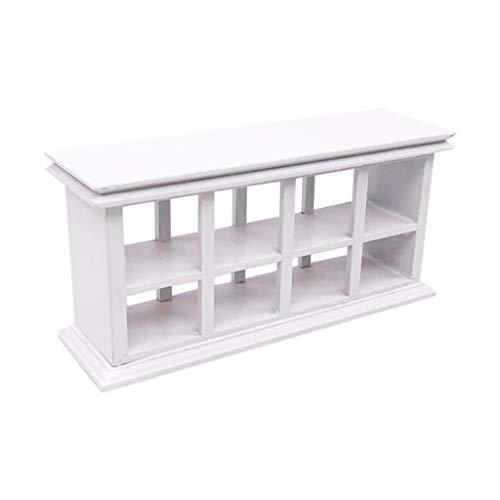 HKFV 1:12 Miniatur Display Regal Wohnzimmer Tortenständer Schrankregal Puppenhaus Haus Garten Zubehör