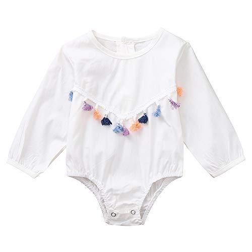 Combinaison Manches Longues Bébé Filles Garçons Barboteuse Épissage Glands Bodys Mignonne Tenues Casual Fête Vêtements 0-24 Mois