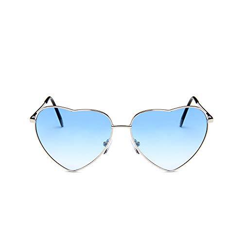 DIYOO Retro Herzform Sonnenbrille Mode Sonnenbrille Vintage Look Sonnenbrille männer Frauen Unisex Klassische Brillen blau e