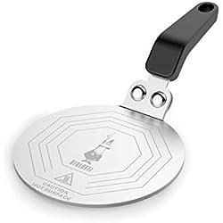 Bialetti Moka Assiette à induction, adaptateur pour petites casseroles et cafetières, 6 tasses, acier