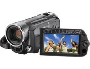 Canon FS11 Camcorder (HDD/SD Hybrid, 16 GB, 45-fach opt. Zoom, 6,9 cm (2,7 Zoll) Display)