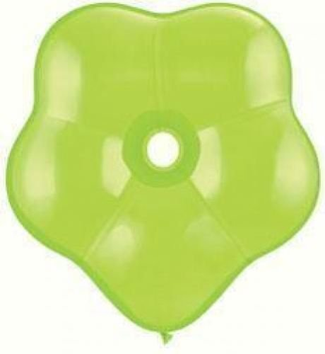 Geo Blossom Flower Shaped Lime Green Qualatex Latex 6 Balloons x 25 by Geo Donut & Geo Blossom Balloons (Lime Green Balloons)