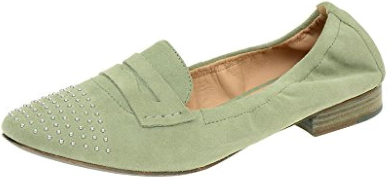 Geox Alix A Slipper Damen Schuhe in sage grün Velour D32T1A