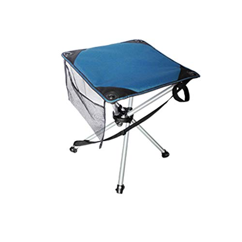Chaise pliante Tabouret pliant de chaise pliante de cadre en acier (Couleur : Bleu, taille : 46 * 46 * 57cm)