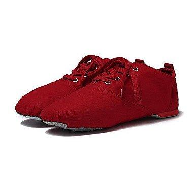 Wuyulunbi@ Donna Ballet Canvas suola piena Sneaker Professional tacco piatto Rosa Rosso Bianco Nero US2.5 / EU34 / UK1.5 bambini piccoli