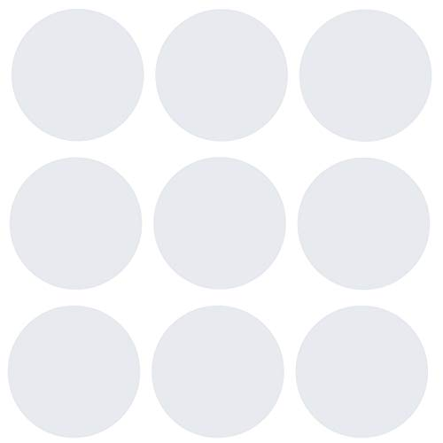 kleb-Drauf® | 9 Punkte | Weiß - matt | Wandtattoo Wandaufkleber Wandsticker Aufkleber Sticker | Wohnzimmer Schlafzimmer Kinderzimmer Küche Bad | Deko Wände Glas Fenster Tür Fliese Punkte 9
