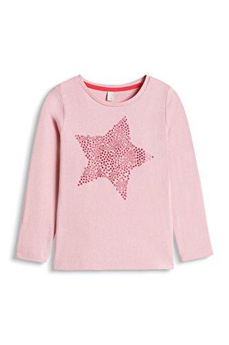 ESPRIT Mädchen Langarmshirt aus Baumwolle, Sternchen, Gr. 104 (Herstellergröße: 104/110), Rosa (LIGHT PINK 690)