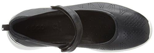 Ecco Damen Soft 5 Mary Jane Halbschuhe, Schwarz (50628black/Black-Concrete/Silver Met.), 39 EU -