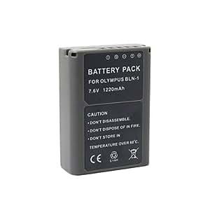 Batterie - Li-ion - BLN-1 - for Olympus OM-D E-P5 EP5 E-M5 EM5 - for Olympus OM-D E-P5 EP5 E-M5 EM5 - 1220mAh - mAh - 7.4V - V