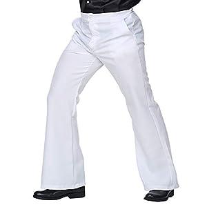 WIDMANN 09243Señor Pantalones de los años setenta, hombre, color blanco