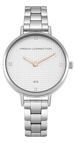 French Connection Reloj Analógico para Mujer de Cuarzo con Correa en Acero Inoxidable FC1319SM