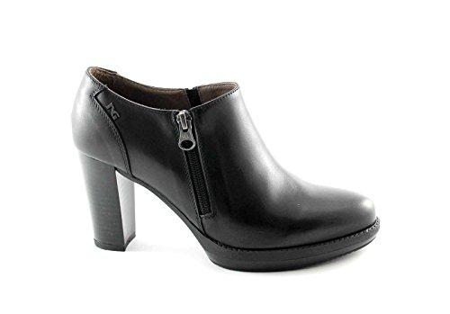 NERO GIARDINI 16401 nero scarpe stivaletti donna tronchetti zip laterale 37