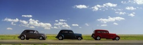 Highway Route 66 Hot Rod (The Poster Corp Panoramic Images - Three Hot Rods moving on a highway Route 66 USA Photo Print (91,44 x 30,48 cm))