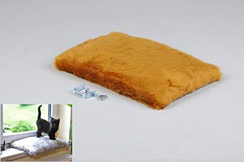 Silvio Design Katzenliege, Katzen-Kuschelbett, Fensterliege für Katzen, in honig, Maße: ca. 37 x 28 cm
