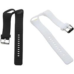 perfk 2 pcs de Bandas de Reloj Inteligente Recambios para Polar A360 de color Blanco Negro