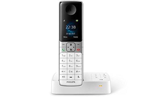 Philips D6351W/38 schnurloses Telefon mit Anrufbeantworter (4,6 cm (1,8 Zoll) Display, HQ Sound, Privatsphären-Modi) weiß Philips Telefon