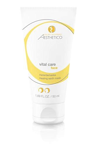 AESTHETICO vital care - 50 ml - Maske mit Heilerde und Pflanzenextrakten, wirkt adstringierend und absorbiert überschüssiges Fett -