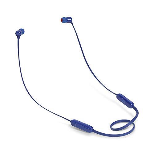 JBL Tune110BT In-Ear Bluetooth-Kopfhörer in Blau – Kabellose Ohrhörer mit integriertem Mikrofon – Musik Streaming bis zu 6 Stunden mit nur einer Akku-Ladung
