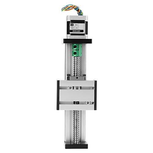 Akozon Linearführung Automatische Kugelumlaufspindel Linear CNC Slide Stroke Lange Tischantrieb Guide Slide Tabelle Aluminium mit Schrittmotor 100mm Effektive Reichweite - Tabellen Lange