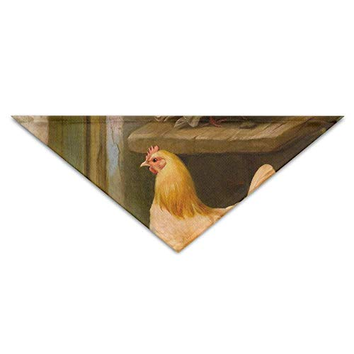 Head Chicken Kostüm - deyhfef Poor Family Hens Chickens Pet Dog Cat Puppy Bandana Triangle Head Scarfs Accessories