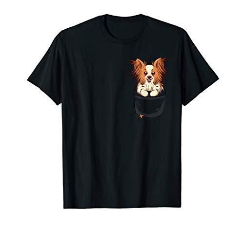 Pocket Cute Papillon Dog Puppy - süßer Hund T-Shirt - Hund Puppy T-shirts T-shirts