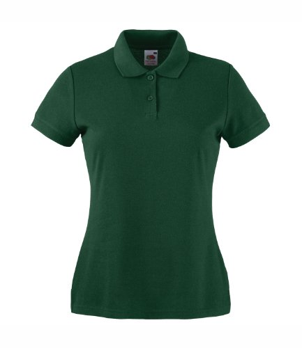 Fruit of the Loom - Polo - Femme verde oscuro