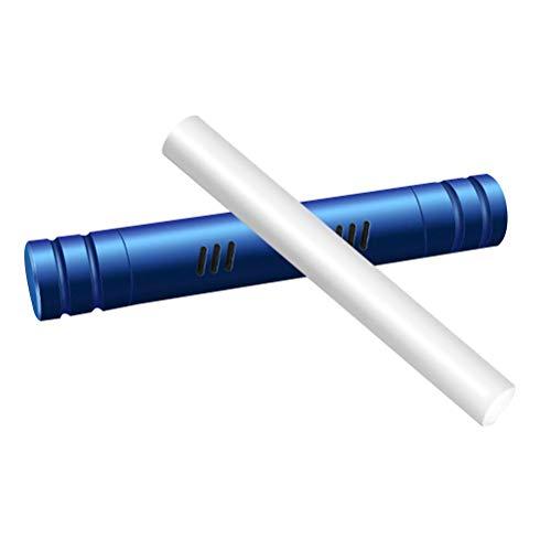 Vosarea Auto Aromatherapy Stick Duftdiffusor Car Air Vent Lufterfrischer Parfüm Ätherisches Öl Diffusor Silikon Vent Clip mit 1 Ersatz-Sticks für Aromatherapie -