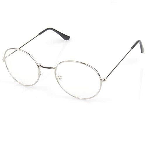 hanxniwm Trendy Brillengestell aus Metallflachgläsern für Damen und Herren Mode Brillengestell dekorative Augen
