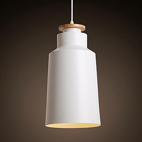 TYDXSD Idee di moda nordici del ferro soggiorno illuminazione sala da pranzo camera da letto impostare Lampadario bianco e nero 200 * 365mm , white