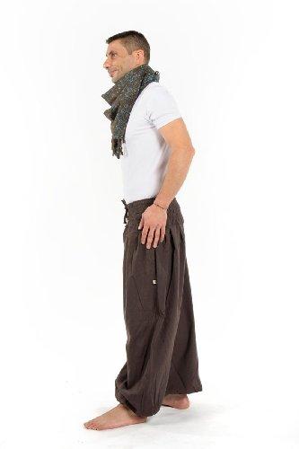 - Pantalon sarouel elastique bouffant marron Elia - Marron