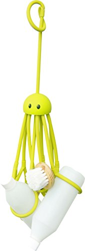 Octopus Shampoohalter Duschgelhalter Octopus ca. 33 cm lang zum Hängen mit 9 verstellbaren Schlaufen Latex, grün Hängen Latex