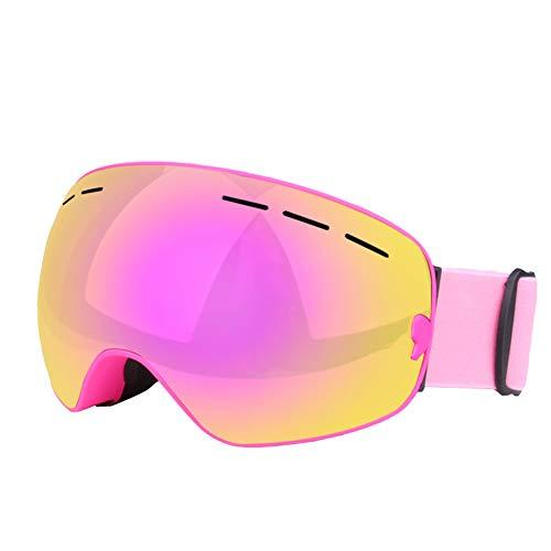 SEGRJ Doppel-Ebene Anti-Nebel Windproof Eye Protection Brille Skiing Sports Glasses -