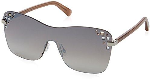 Jimmy Choo Damen MASK/S NQ 137 99 Sonnenbrille, Silber (Pallad Nude/Brown Smoke Slv),
