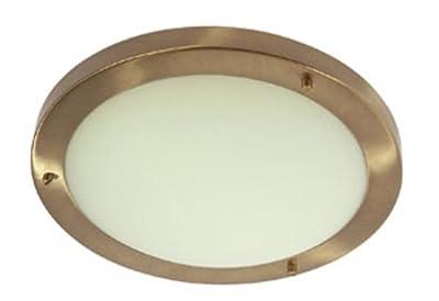 Rondo Bathroom Ceiling Fitting Antique Brass Finish