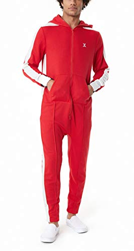 OnePiece Damen Relaxed Jumpsuit Unisex Rider Retro P - CA18102R, Einfarbig, Gr. X-Small, Rot (Red) Unisex One Piece
