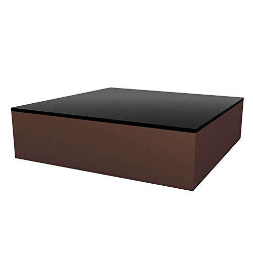 Vondom Quadrat Table Basse pour l'extérieur 120x120 h.32 cm Bronze