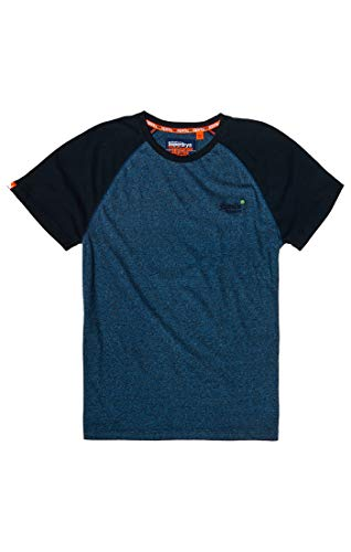 Superdry Herren ORANGE Label Baseball S/S Tee T-Shirt, Blau (Woodland Blue Grit Z2X), Medium -