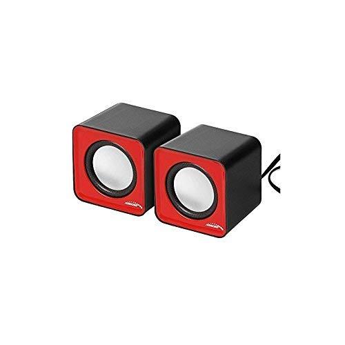 Audiocore AC870 Kompakt Stereo-Lautsprecher 2.0 PC 2x3 Watt RMS Rot