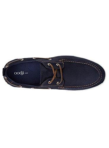 oodji Ultra Homme Chaussures en Suédine à Laçage Décoratif Bleu (7900N)