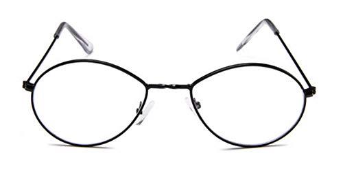 WSKPE Sonnenbrille Brillen Designer Damen Herren Sonnenbrille Brille Gelb Damen Tear Drop Runden Schwarzen Rahmen Transparent Linse