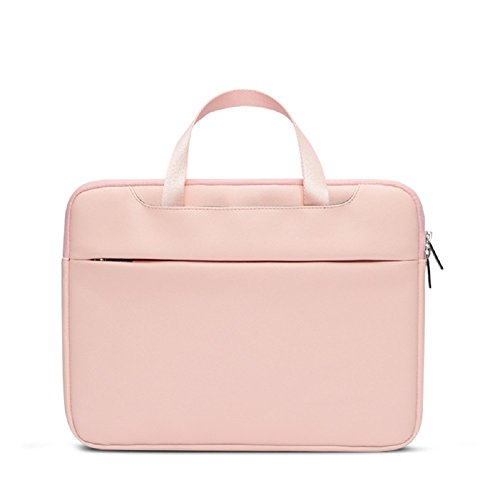 YLJHY Notebook-Handtasche Computer Tasche Business Aktentasche Leder-Liner,Rosa,S -