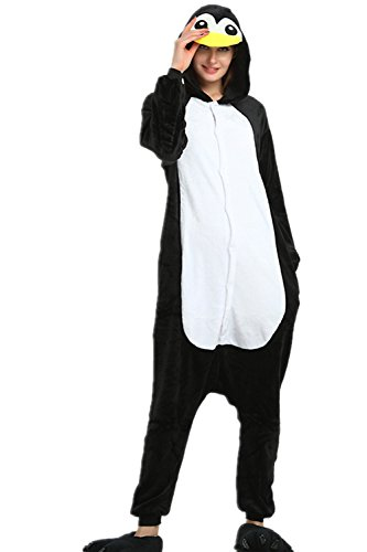 Kenmont Jumpsuit Tier Cartoon Einhorn Pyjama Overall Kostüm Sleepsuit Cosplay Animal Sleepwear für Kinder/Erwachsene (Large, ()