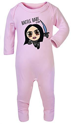 Colour Fashion Baby Kostüm Alita Battle Engel, 100% Baumwolle, hypoallergen Gr. 6-12 Monate, Rose (9 12 Monat Kostüm Großbritannien)