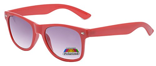 4sold Jungen Polarized Sonnenbrille Kids in vielen Farbkombinationen Klassische Unisex Sonnenbrille Fune (red)